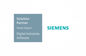 Siemens Sw Solution Partner Smart Expert Emblem Horizontal For Dark Color Background